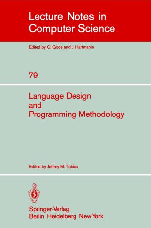 Language Design and Programming Methodology
