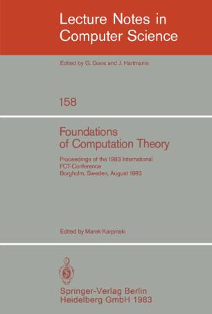 Foundations of Computation Theory