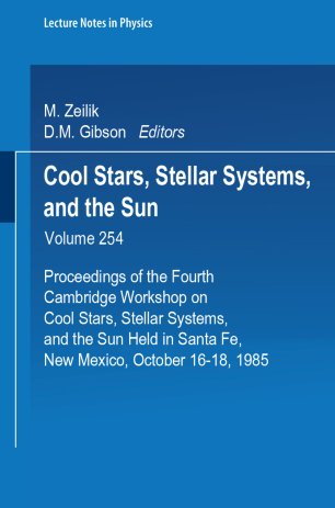 Cool Stars, Stellar Systems, and the Sun | SpringerLink