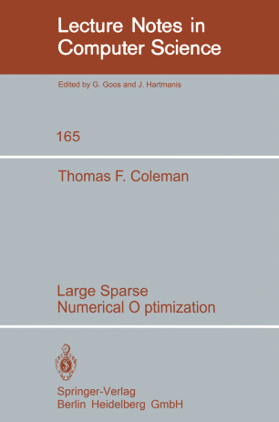 Large Sparse Numerical Optimization