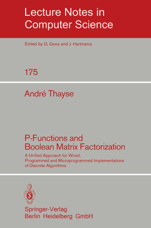 P-Functions and Boolean Matrix Factorization