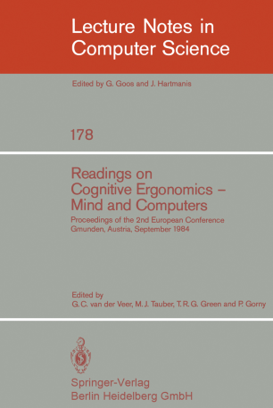 Readings on Cognitive Ergonomics — Mind and Computers