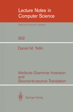 Attribute Grammar Inversion and Source-to-source Translation