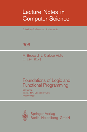 Foundations of Logic and Functional Programming