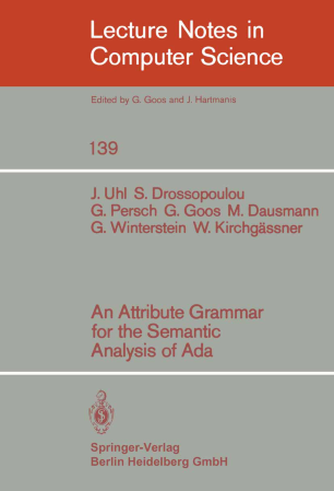 An Attribute Grammar for the Semantic Analysis of Ada