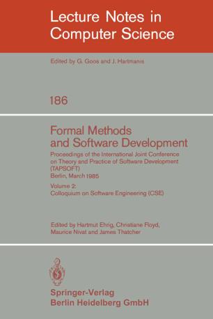 Formal Methods and Software Development