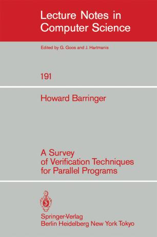 A Survey of Verification Techniques for Parallel Programs