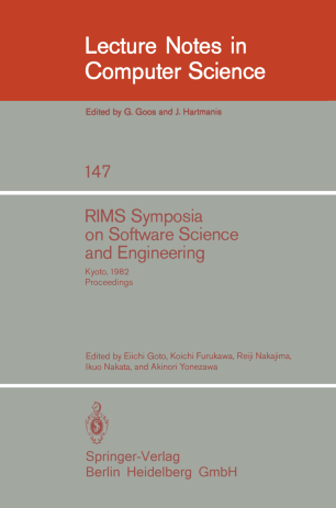 RIMS Symposia on Software Science and Engineering