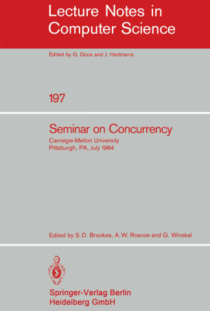 Seminar on Concurrency