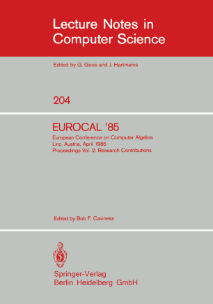 EUROCAL '85