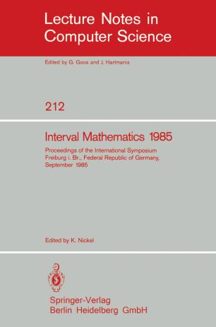 Interval Mathematics 1985