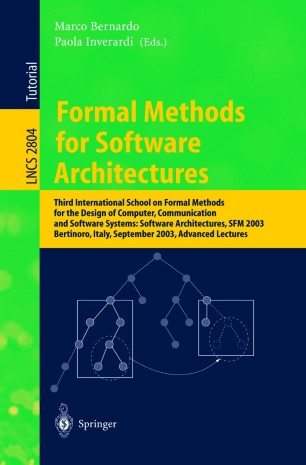 Formal Methods for Software Architectures