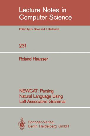 NEWCAT: Parsing Natural Language Using Left-Associative Grammar