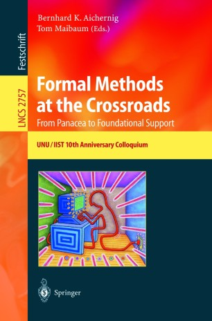 Formal Methods at the Crossroads. From Panacea to Foundational Support