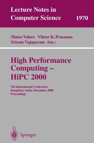High Performance Computing — HiPC 2000