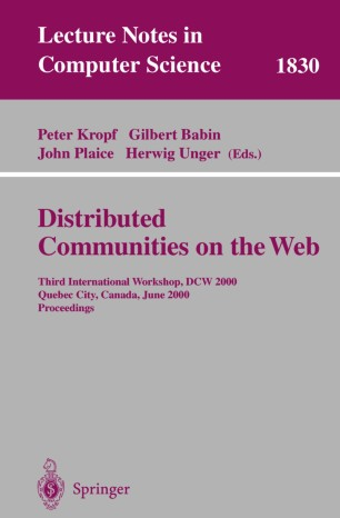 Distributed Communities on the Web