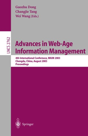 Advances in Web-Age Information Management