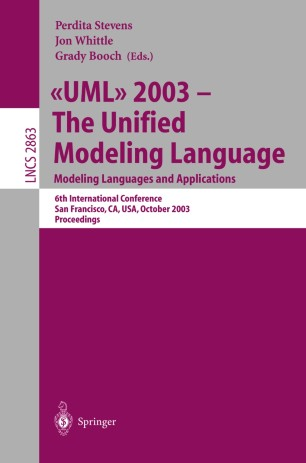 «UML» 2003 - The Unified Modeling Language. Modeling Languages and Applications