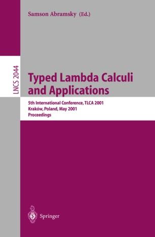 Typed Lambda Calculi and Applications