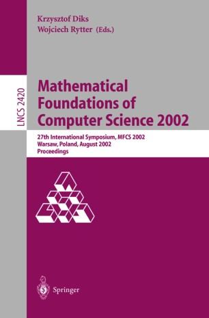 Mathematical Foundations of Computer Science 2002