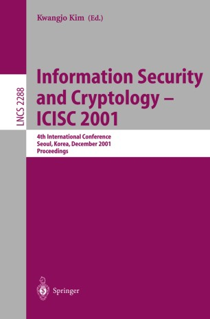 Information Security and Cryptology — ICISC 2001