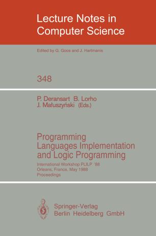 Programming Languages Implementation and Logic Programming