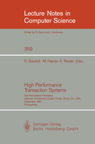 High Performance Transaction Systems