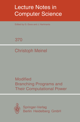 Modified Branching Programs and Their Computational Power