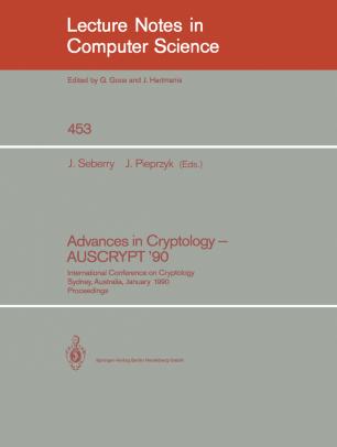 Advances in Cryptology — AUSCRYPT '90