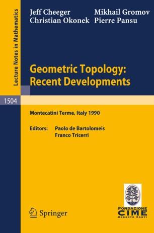 Geometric Topology: Recent Developments