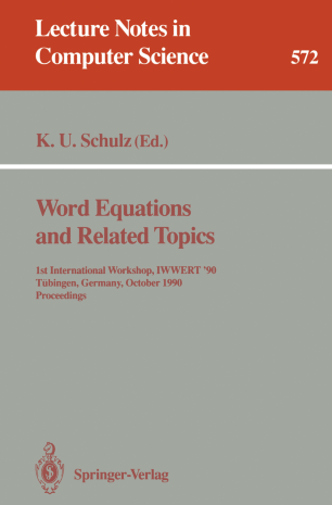 Word Equations and Related Topics