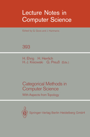 Categorical Methods in Computer Science With Aspects from Topology