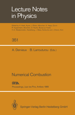 Numerical Combustion Springerlink