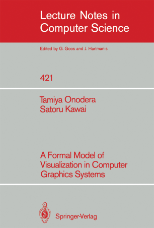 A Formal Model of Visualization in Computer Graphics Systems
