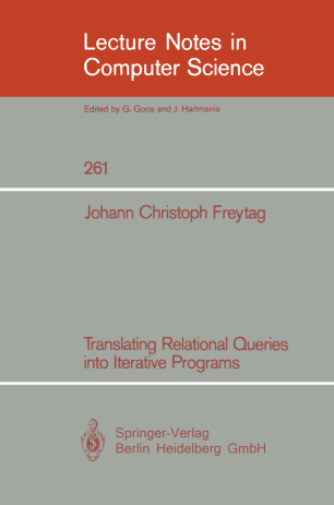 Translating Relational Queries into Iterative Programs