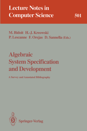 Algebraic system specification and development