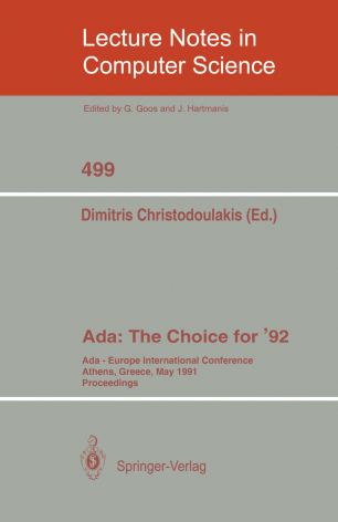 Ada: The Choice for '92