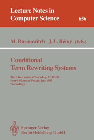 Conditional Term Rewriting Systems