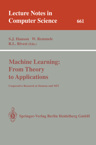Machine Learning: From Theory to Applications