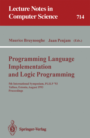 Progamming Language Implementation and Logic Programming