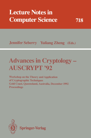 Advances in Cryptology — AUSCRYPT '92