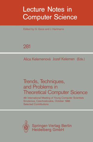 Trends, Techniques, and Problems in Theoretical Computer Science