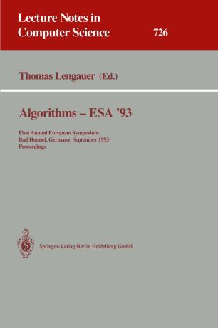 Algorithms—ESA '93