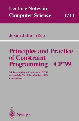 Principles and Practice of Constraint Programming – CP'99