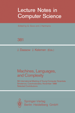 Machines, Languages, and Complexity