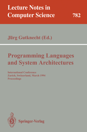 Programming Languages and System Architectures