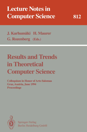 Results and Trends in Theoretical Computer Science