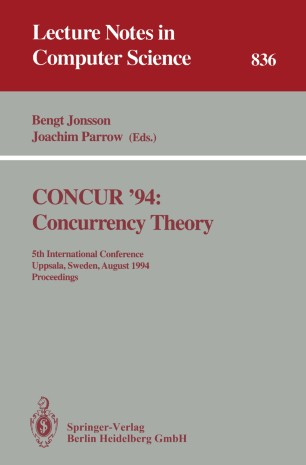CONCUR '94: Concurrency Theory