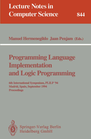 Programming Language Implementation and Logic Programming