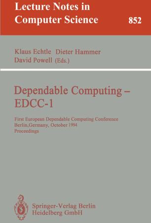 Dependable Computing — EDCC-1